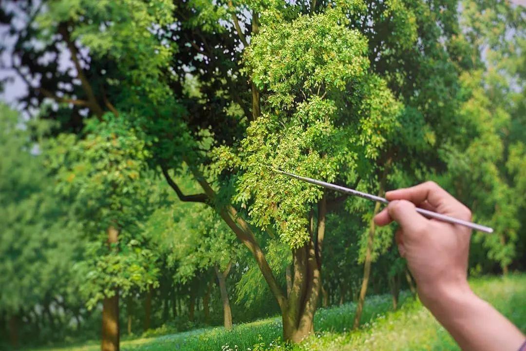 他沉迷于画树林,超逼真,看了让人身临其境!插图7