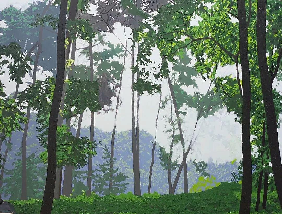 他沉迷于画树林,超逼真,看了让人身临其境!插图10