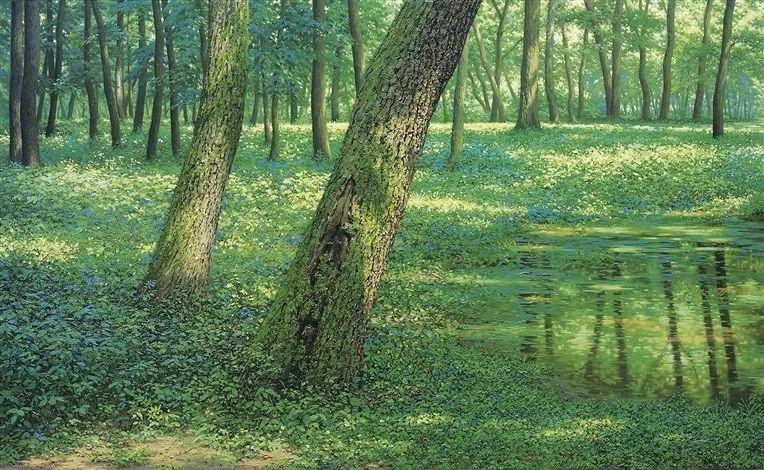 他沉迷于画树林,超逼真,看了让人身临其境!插图12