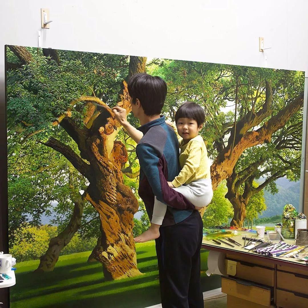 他沉迷于画树林,超逼真,看了让人身临其境!插图14