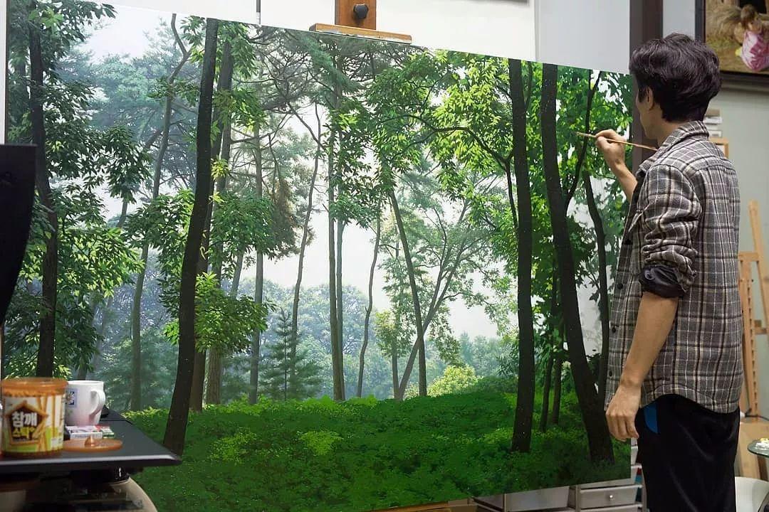 他沉迷于画树林,超逼真,看了让人身临其境!插图18