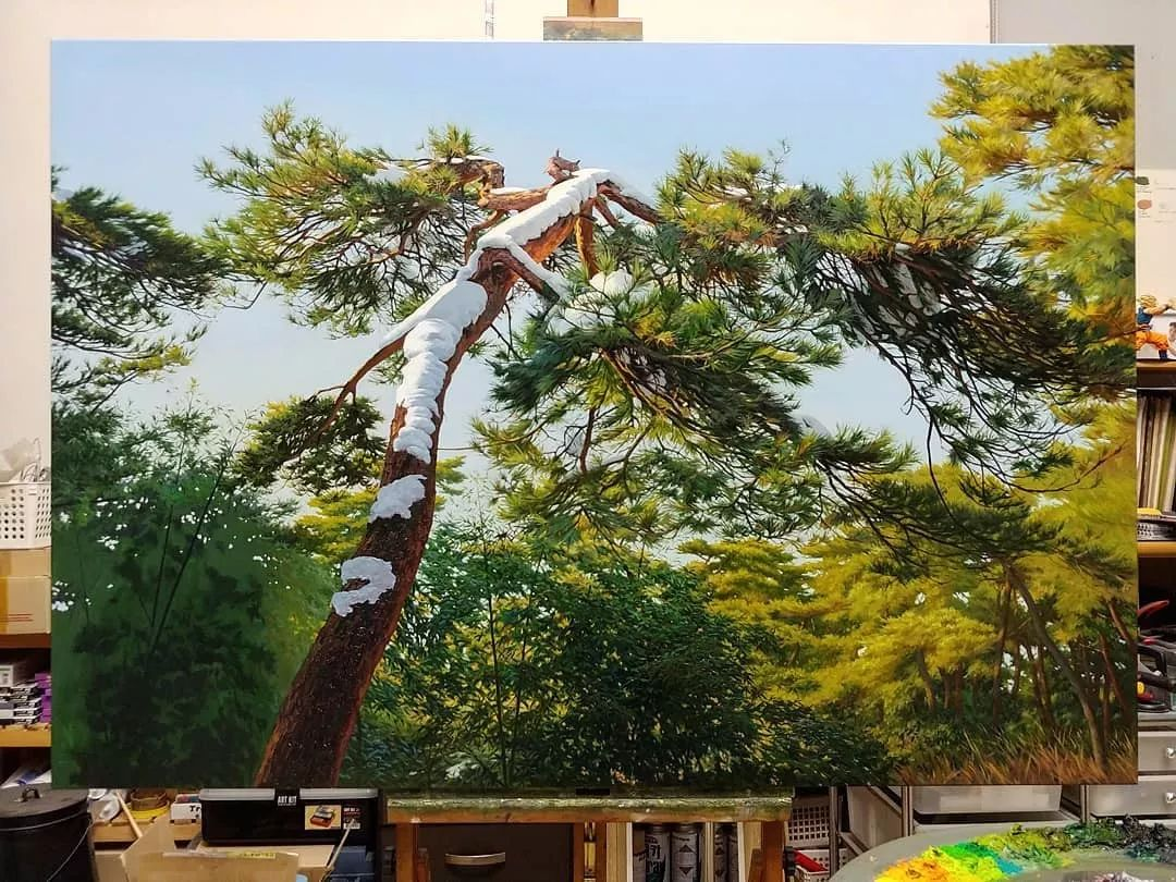 他沉迷于画树林,超逼真,看了让人身临其境!插图20