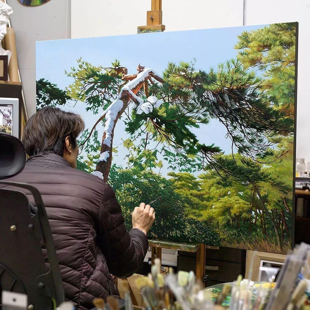 他沉迷于画树林,超逼真,看了让人身临其境!插图21
