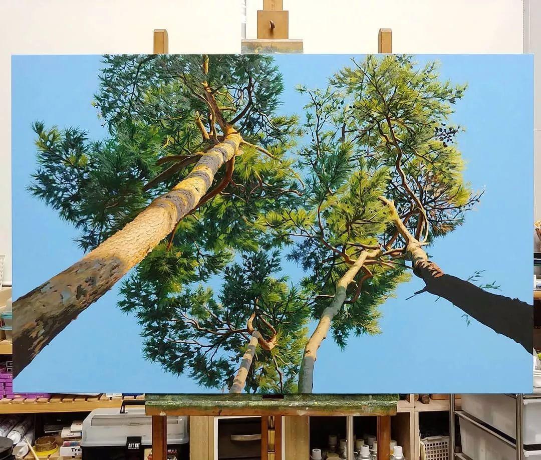 他沉迷于画树林,超逼真,看了让人身临其境!插图25