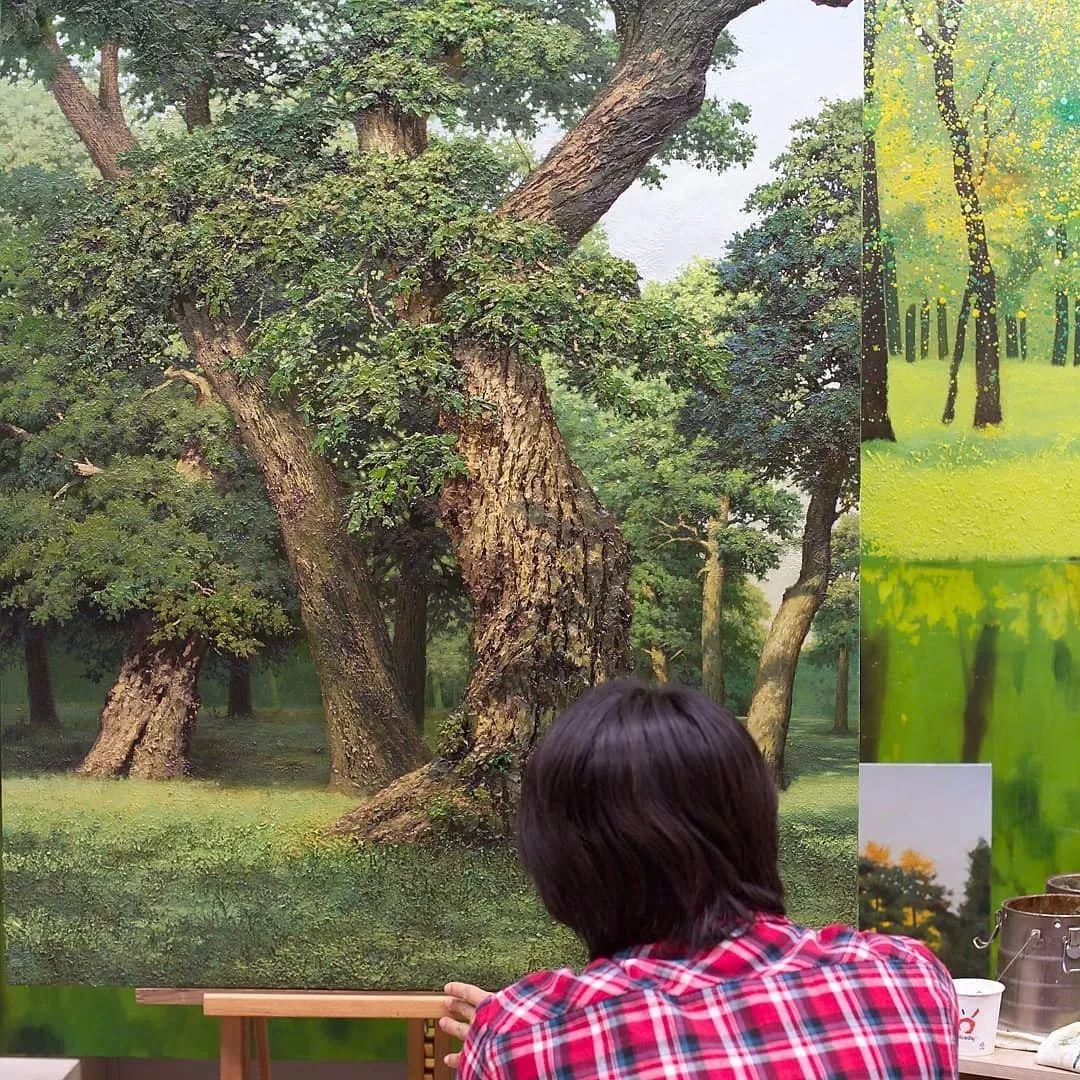 他沉迷于画树林,超逼真,看了让人身临其境!插图26