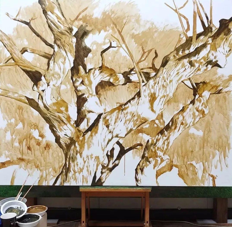 他沉迷于画树林,超逼真,看了让人身临其境!插图27