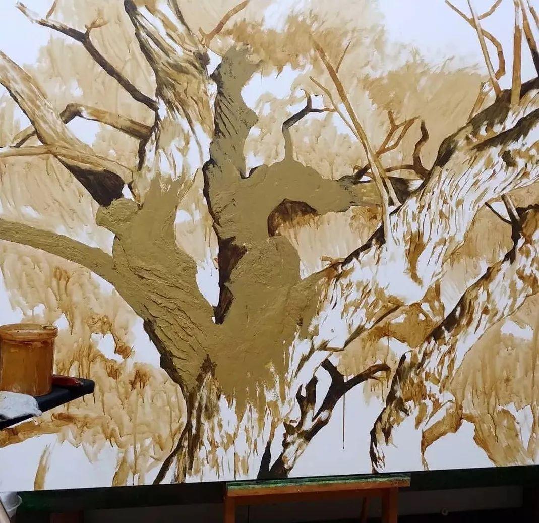 他沉迷于画树林,超逼真,看了让人身临其境!插图28