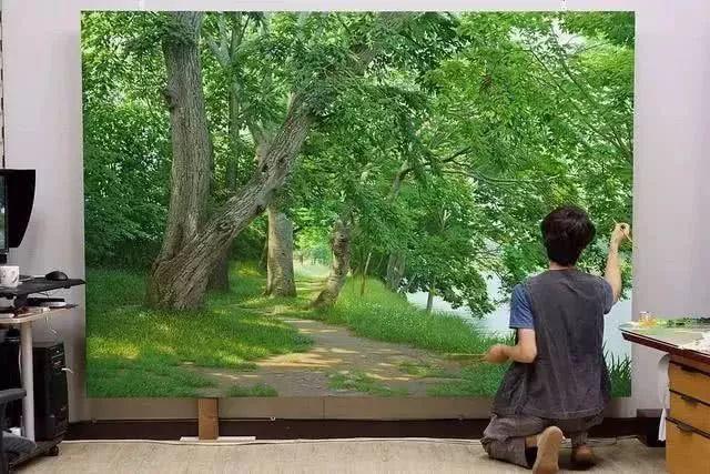 他沉迷于画树林,超逼真,看了让人身临其境!插图30