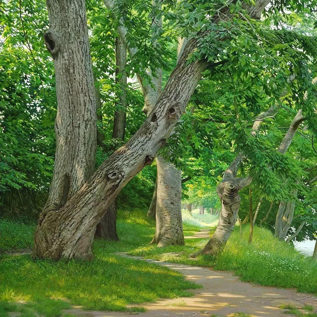 他沉迷于画树林,超逼真,看了让人身临其境!插图31