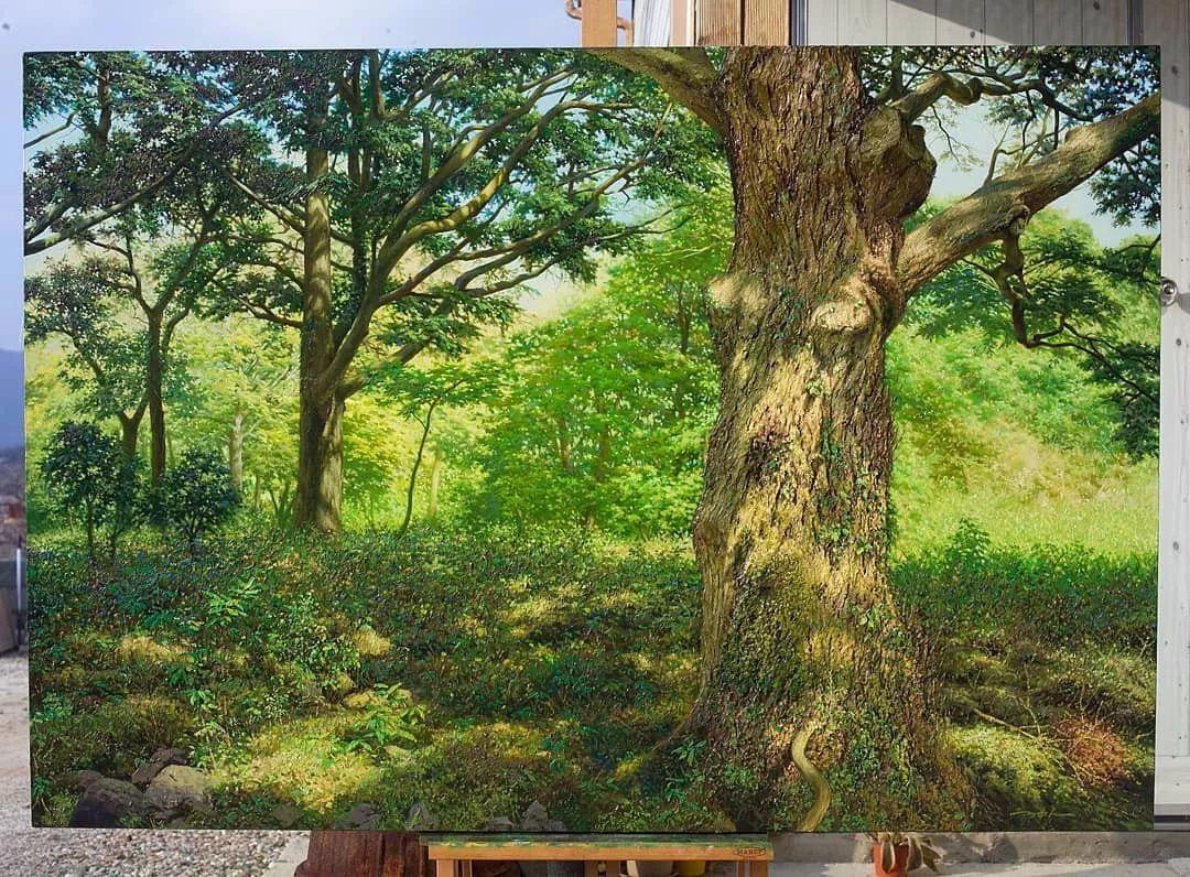 他沉迷于画树林,超逼真,看了让人身临其境!插图34