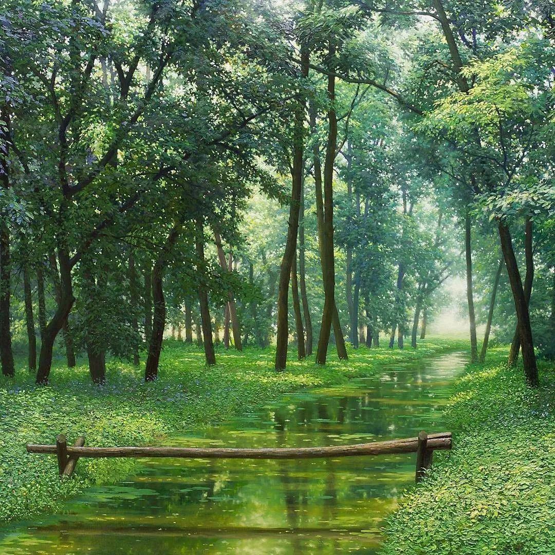 他沉迷于画树林,超逼真,看了让人身临其境!插图35