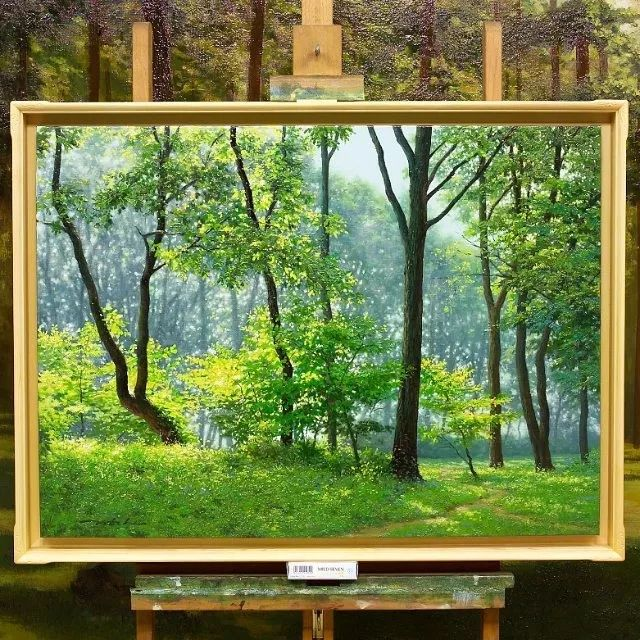 他沉迷于画树林,超逼真,看了让人身临其境!插图36
