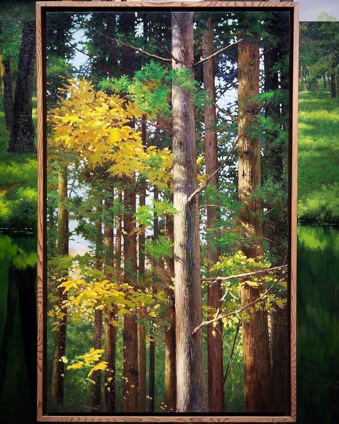 他沉迷于画树林,超逼真,看了让人身临其境!插图37