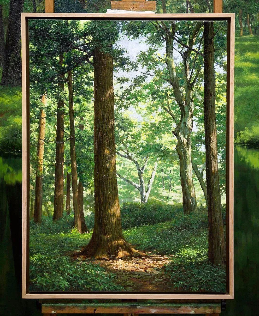 他沉迷于画树林,超逼真,看了让人身临其境!插图38