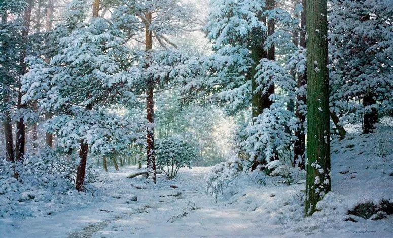 他沉迷于画树林,超逼真,看了让人身临其境!插图40