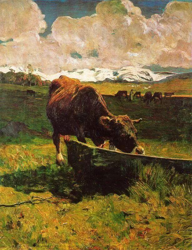 """英年早逝,从事艺术20年,被世人称为""""农民画家""""的Segantini插图"""