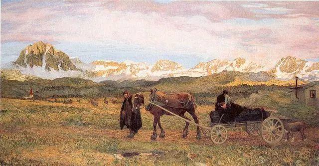 """英年早逝,从事艺术20年,被世人称为""""农民画家""""的Segantini插图2"""