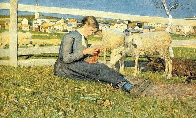 """英年早逝,从事艺术20年,被世人称为""""农民画家""""的Segantini插图4"""