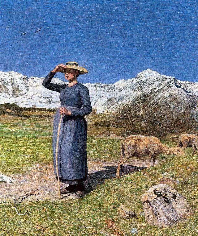 """英年早逝,从事艺术20年,被世人称为""""农民画家""""的Segantini插图8"""