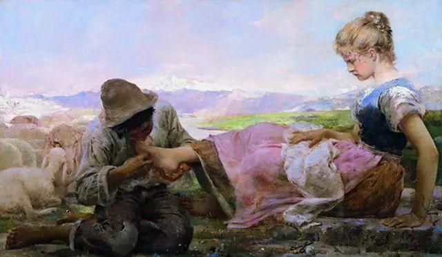 """英年早逝,从事艺术20年,被世人称为""""农民画家""""的Segantini插图11"""