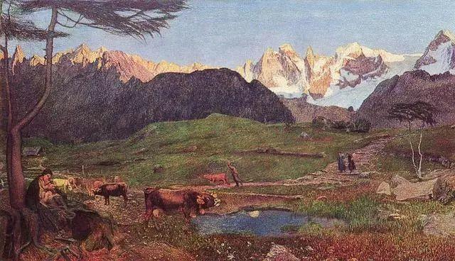 """英年早逝,从事艺术20年,被世人称为""""农民画家""""的Segantini插图13"""
