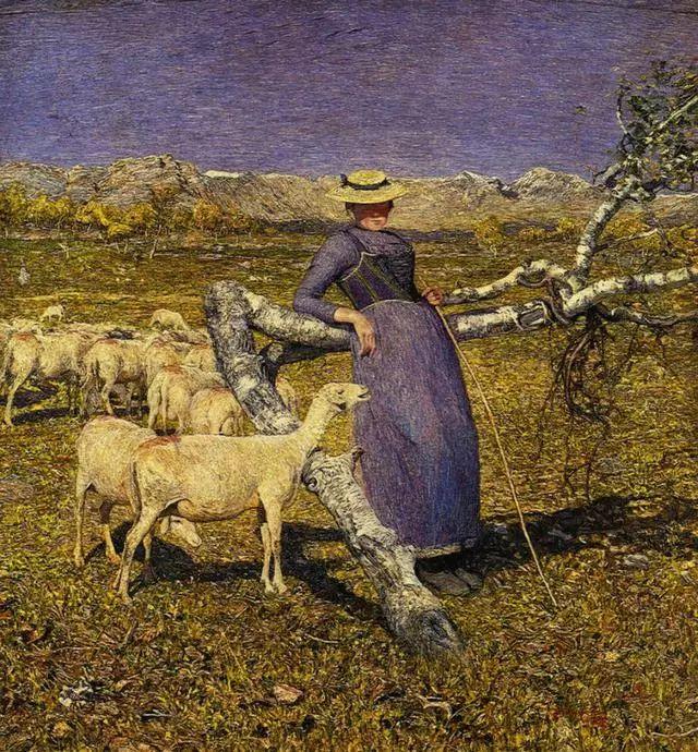 """英年早逝,从事艺术20年,被世人称为""""农民画家""""的Segantini插图15"""
