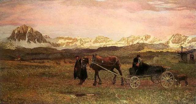 """英年早逝,从事艺术20年,被世人称为""""农民画家""""的Segantini插图21"""