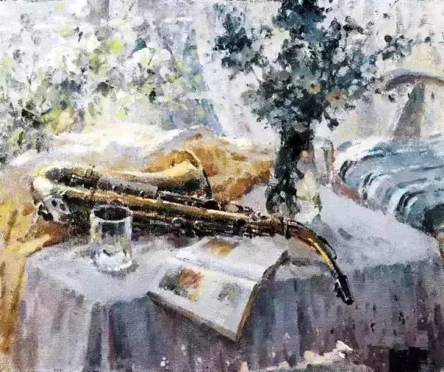 王沂东:姜奇的画流光溢彩,酣畅淋漓插图16