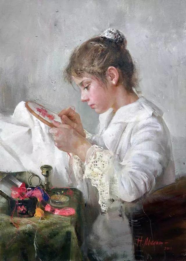 她笔下的孩子都这么美,俄罗斯女画家娜塔莎·米拉舍维奇插图1