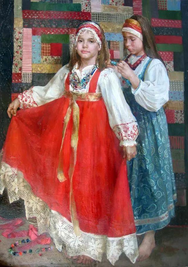 她笔下的孩子都这么美,俄罗斯女画家娜塔莎·米拉舍维奇插图7