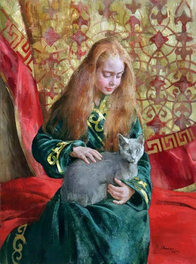 她笔下的孩子都这么美,俄罗斯女画家娜塔莎·米拉舍维奇插图8