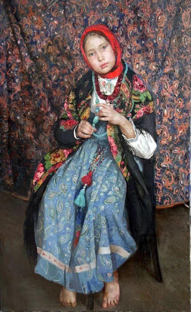 她笔下的孩子都这么美,俄罗斯女画家娜塔莎·米拉舍维奇插图9