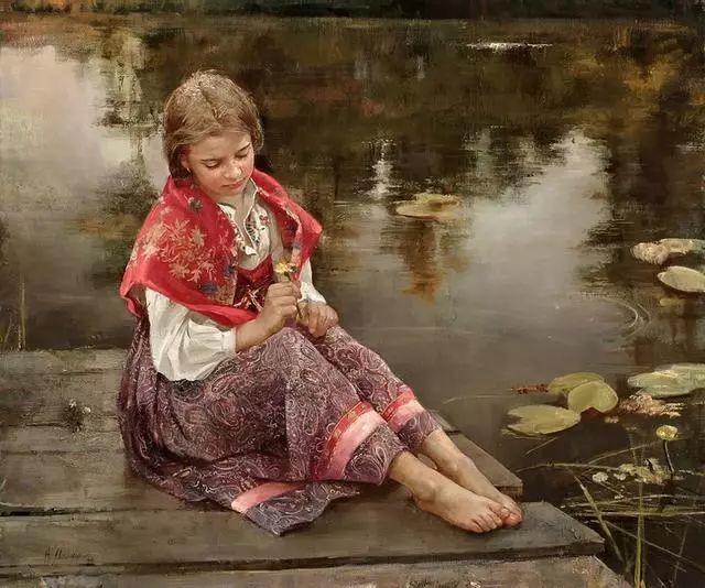 她笔下的孩子都这么美,俄罗斯女画家娜塔莎·米拉舍维奇插图12