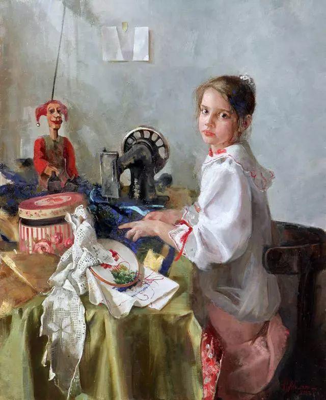 她笔下的孩子都这么美,俄罗斯女画家娜塔莎·米拉舍维奇插图17