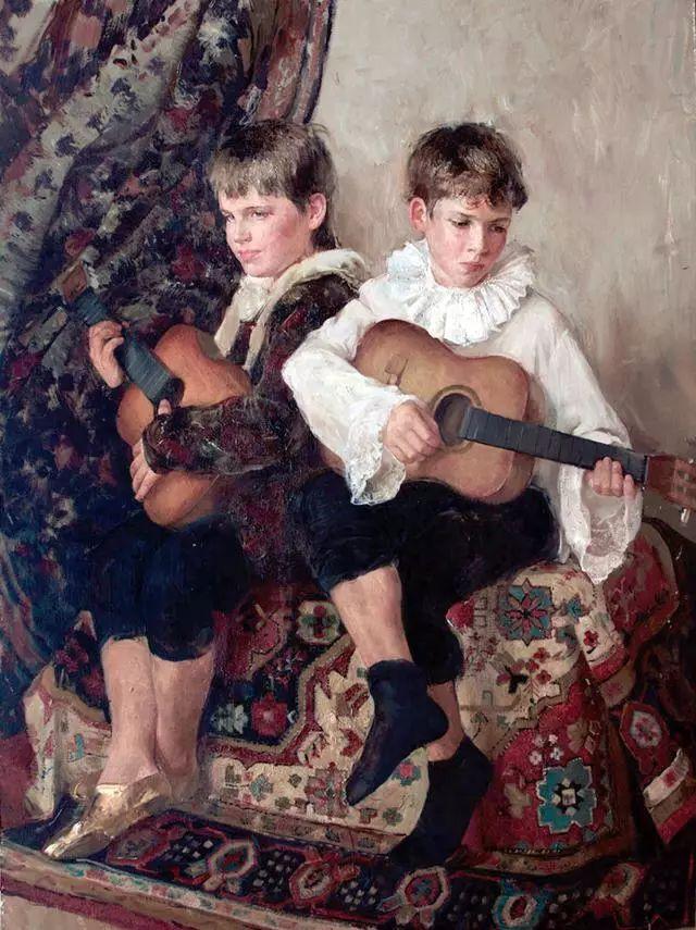 她笔下的孩子都这么美,俄罗斯女画家娜塔莎·米拉舍维奇插图20