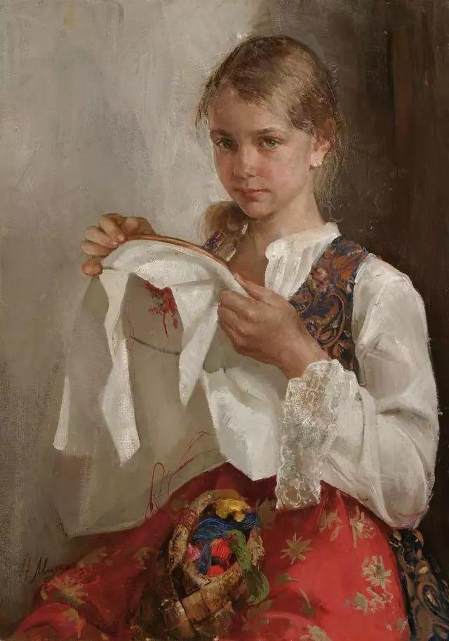 她笔下的孩子都这么美,俄罗斯女画家娜塔莎·米拉舍维奇插图21