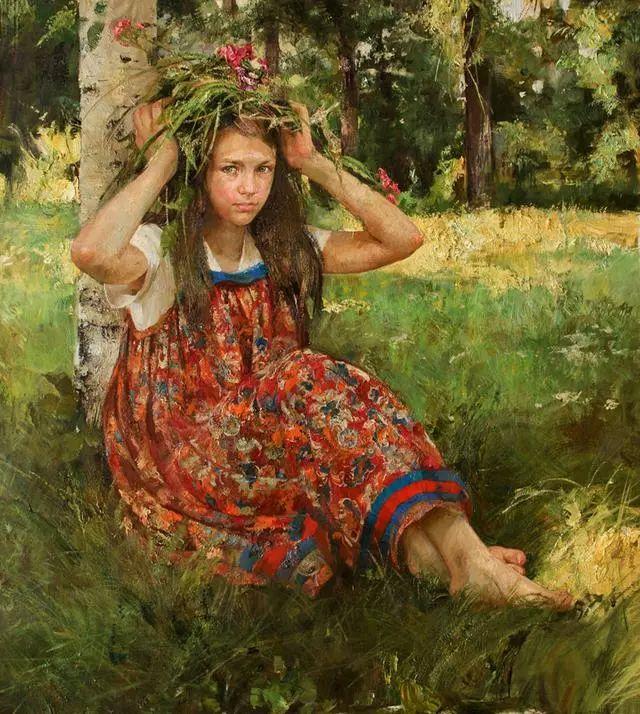 她笔下的孩子都这么美,俄罗斯女画家娜塔莎·米拉舍维奇插图26