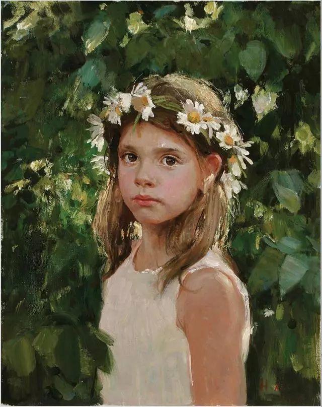 她笔下的孩子都这么美,俄罗斯女画家娜塔莎·米拉舍维奇插图28