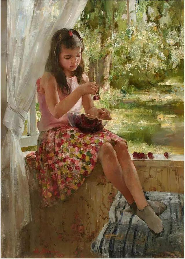 她笔下的孩子都这么美,俄罗斯女画家娜塔莎·米拉舍维奇插图30