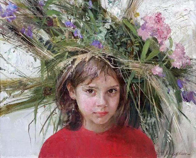 她笔下的孩子都这么美,俄罗斯女画家娜塔莎·米拉舍维奇插图32