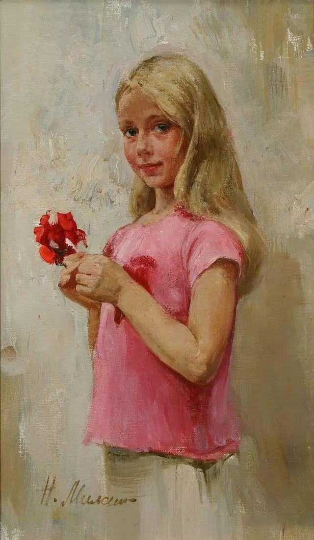 她笔下的孩子都这么美,俄罗斯女画家娜塔莎·米拉舍维奇插图36