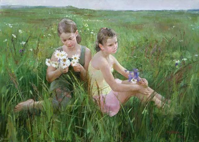 她笔下的孩子都这么美,俄罗斯女画家娜塔莎·米拉舍维奇插图38