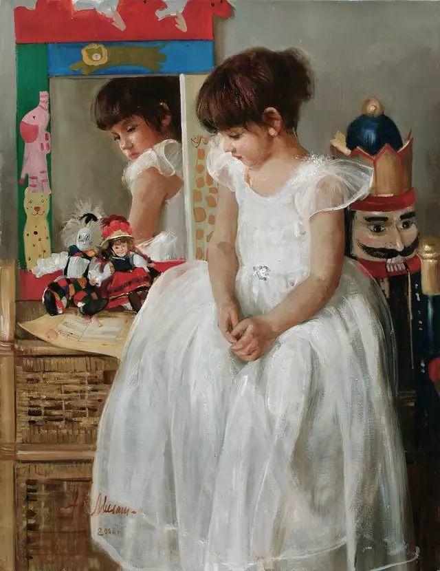 她笔下的孩子都这么美,俄罗斯女画家娜塔莎·米拉舍维奇插图39