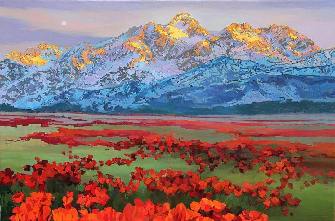 这位哈萨克斯坦美女,从小失聪,却能画出这世界上最美的色彩插图1
