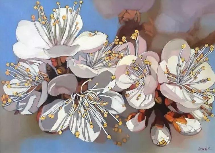 这位哈萨克斯坦美女,从小失聪,却能画出这世界上最美的色彩插图45