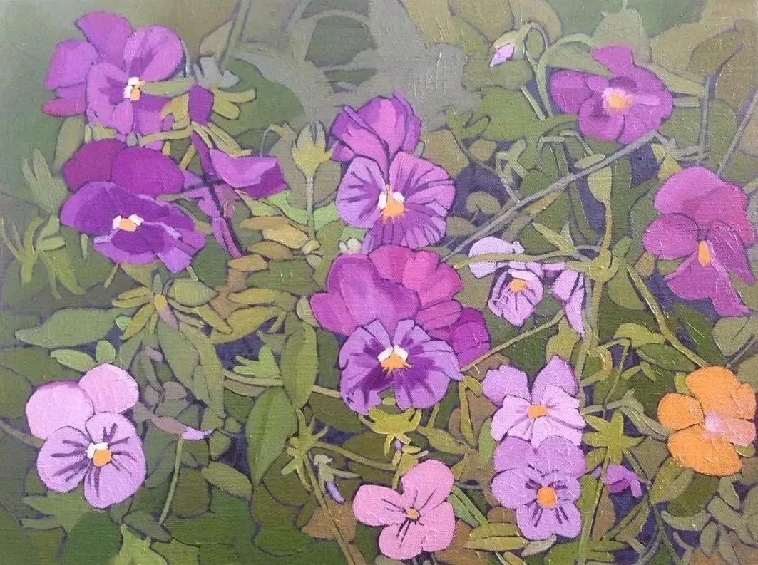 这位哈萨克斯坦美女,从小失聪,却能画出这世界上最美的色彩插图48