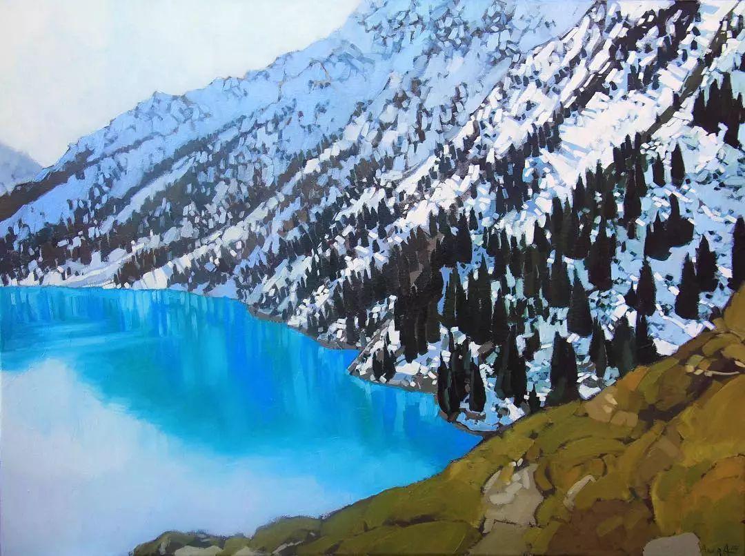 这位哈萨克斯坦美女,从小失聪,却能画出这世界上最美的色彩插图57
