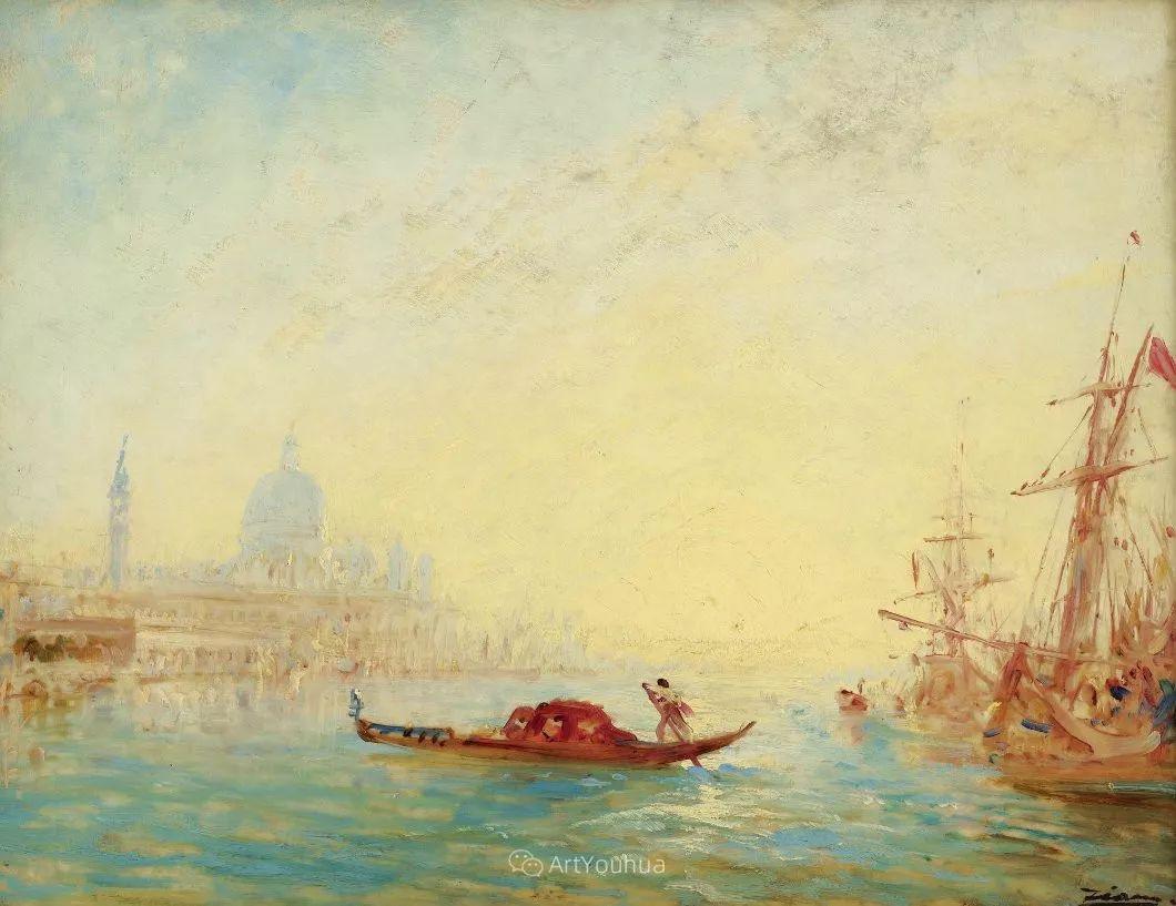 海中的城,气势恢宏——法国画家Felix Ziem插图1