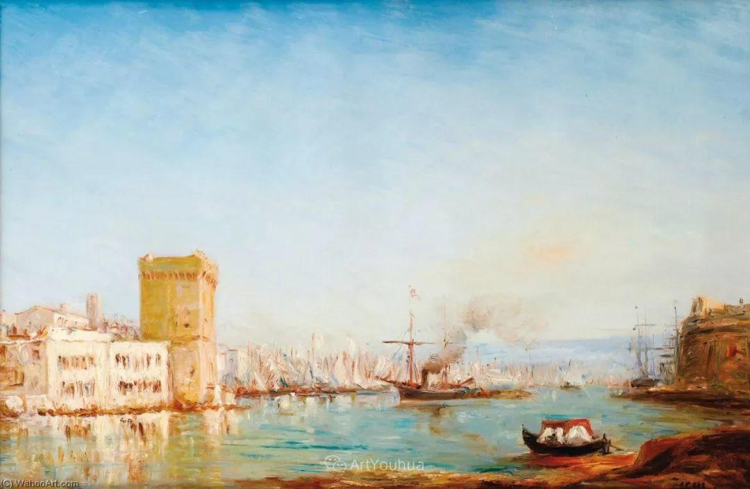 海中的城,气势恢宏——法国画家Felix Ziem插图3