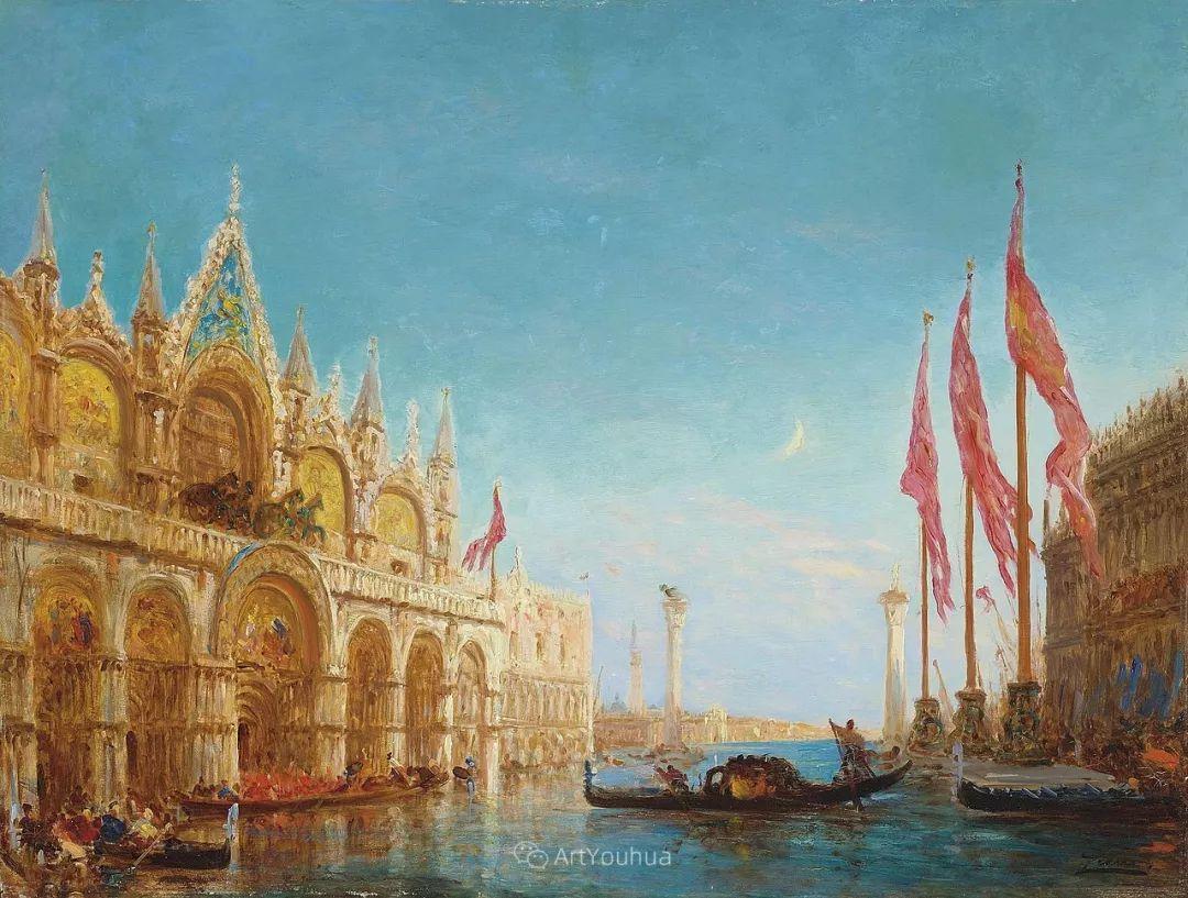 海中的城,气势恢宏——法国画家Felix Ziem插图7